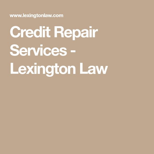 Credit Repair Services - Lexington Law