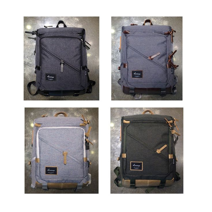 Korea Fashion Black Label Cross Line Backpack School Travel Business Bag Unisex