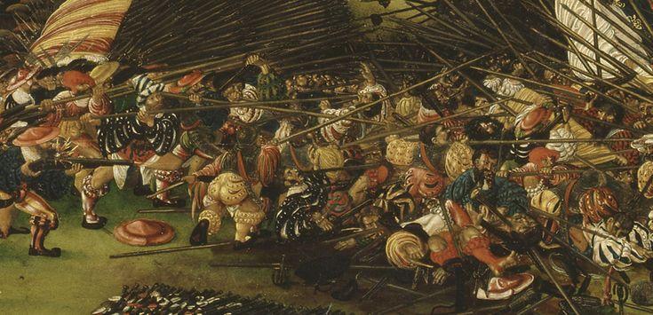 Ruprecht Heller: The Battle of Pavia 1525. Nationalmuseum, Stockholm, Sweden ? / The Bridgeman Art Library ? Detail