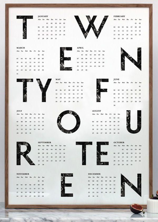 Kristina Krogh's 2014 Calendar Poster