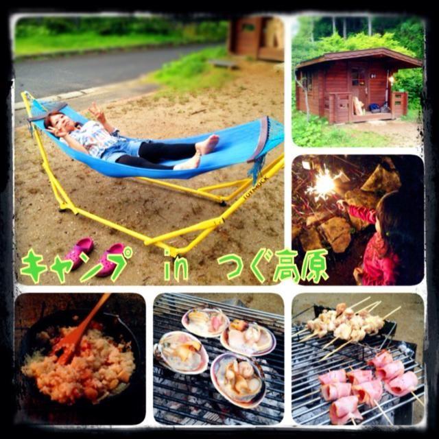 愛知県のつぐ高原グリーンパークへお友達家族と一緒にキャンプへ行って来ました〜  天気は雨が降ったり止んだりでしたが、なんとかBBQは決行出来ました✌️ 子供達は川遊び、花火、虫取りなどではしゃぎ、楽しめたようです✨  私もお友達家族が持って来たハンモックで自然を満喫〜  とってもいい夏休みの思い出が出来ました〜⭐️ これで長男の作文の宿題が書ける  キャンプ中は電波が悪くてキャンプ中にコメントくれた方、まだ返事が返せれてませんすみません  順番に返しますね〜!! ゲッ(☞ ՞ਊ ՞)☞ツ! - 123件のもぐもぐ - お友達家族とキャンプ in つぐ高原夏休みの思い出〜 by sakuchin