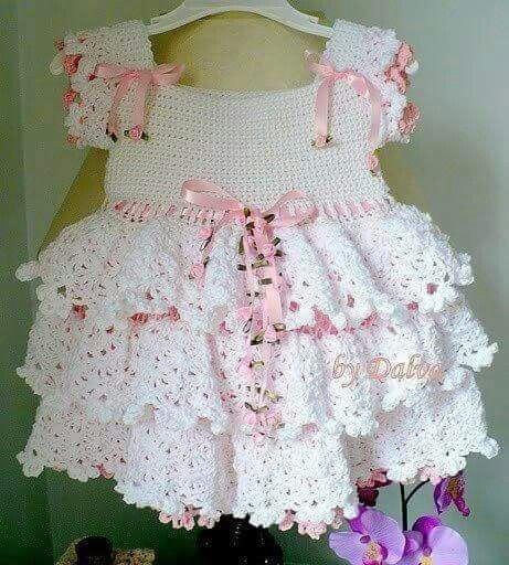 Delicadeza ,vestido a crochet ♡
