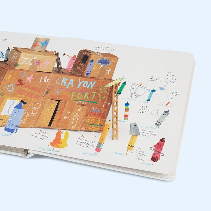 Cream bookspeed The Day the Crayons Came Home Board Book by Drew Daywalt