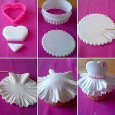 .Princess or ballet cupcake decorations