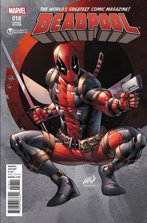 "deadpoolbugle: "" Deadpool #18 Variant Cover by Rob Liefeld 
