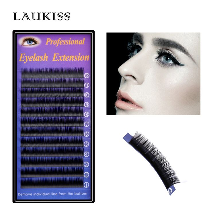 LAUKISS Ellipse Eyelashes Extension Lashes For Daily Using 1 Tray/Lot  HandeMade Fake Eyelash Makeup Individual False Eyelashes