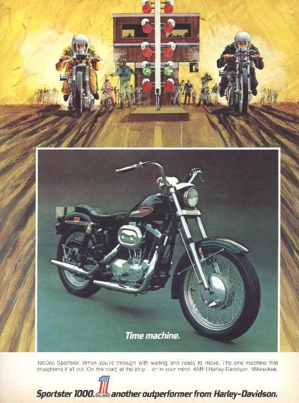 1972 Harley Sportster Advert