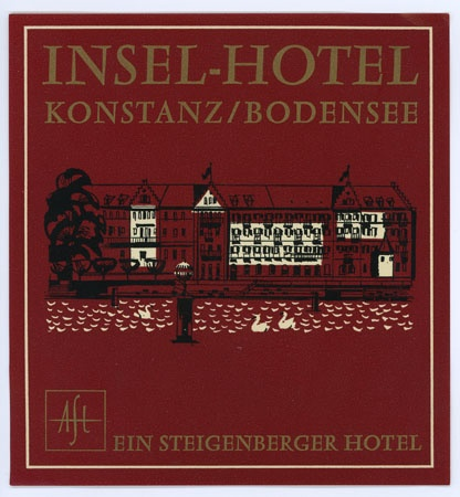insel hotel, konstanz / bodensee - luggage label