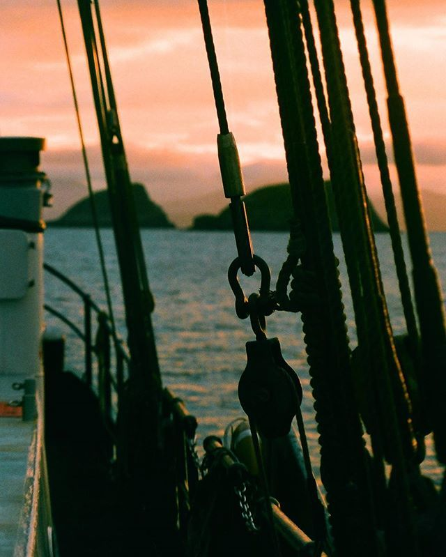 Ok honeys - Im finally going to upload the photos I took onboard the Beluga II throughout May & June as we went on our ocean plastics expedition around the coast of Scotland last summer.  Theres some lush ones in the rolls I had developed- including this one of the Shiant Isles through some of the boats rigging.  #filmisnotdead #shootfilm #filmphotography #filmcommunity #35mm #35mmfilm #analogphotography #sailing #scotland #ocean