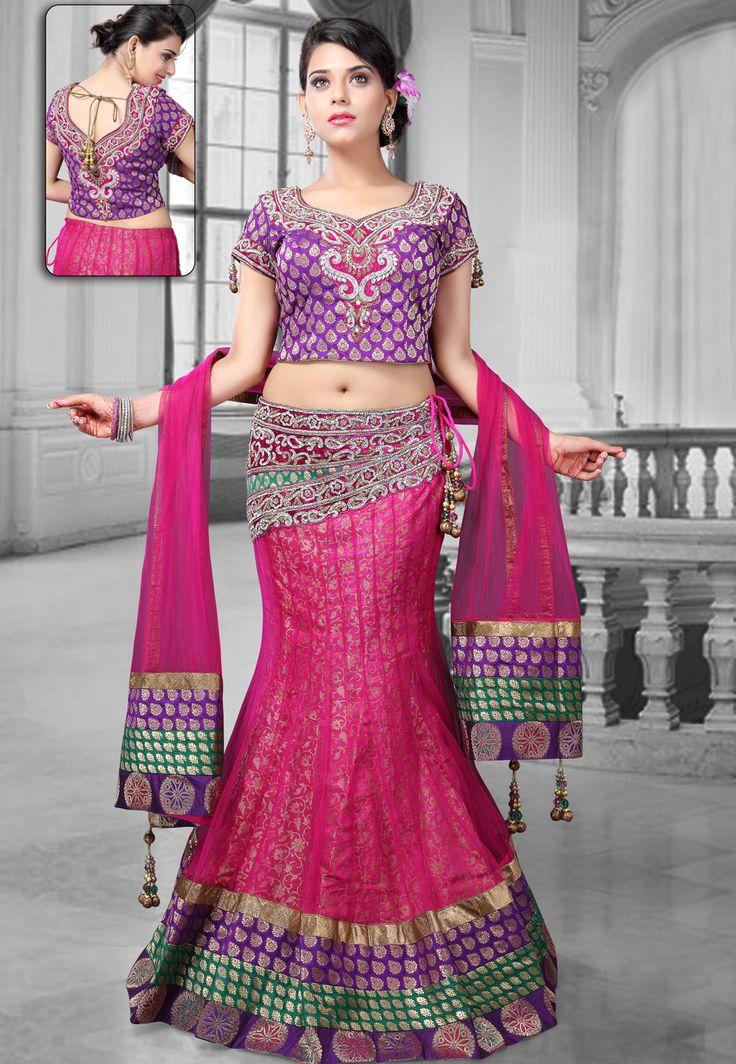 #Pink #Net Lehenga Choli With #Dupatta @ $478.22