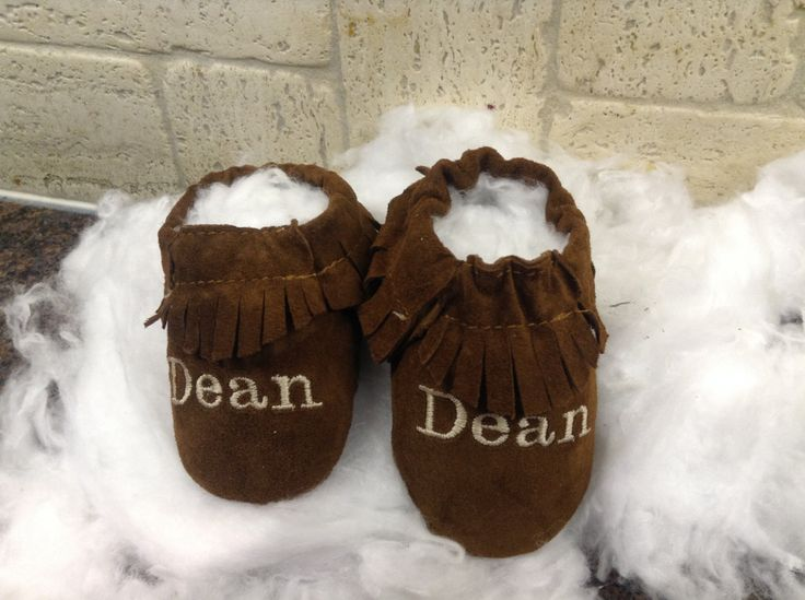 personalized genuine suede moccasins , chrome free handmade moccs , Moccasins with baby name ,personalized mocassins by SoftSoulBabyShoes on Etsy