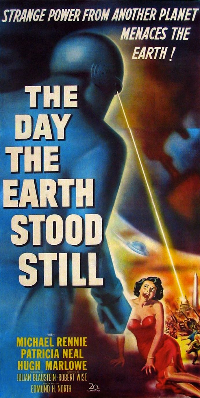 Movie poster for The Day the Earth Stood Still, 1951.