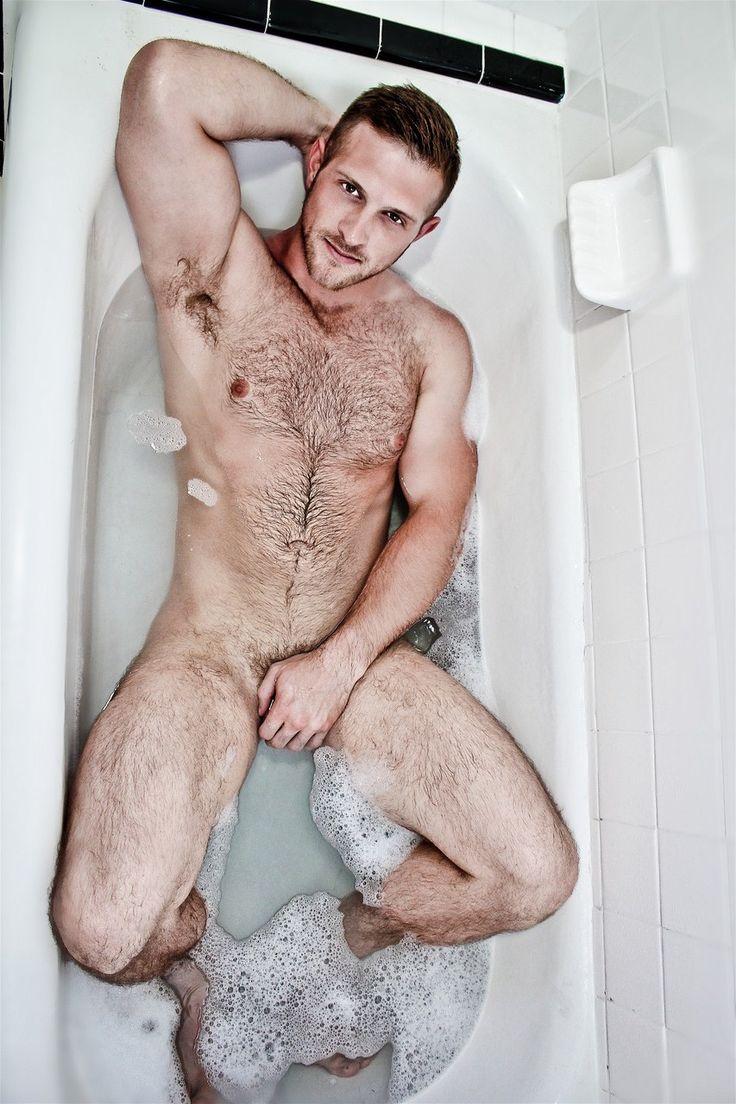 fat naked guy bath