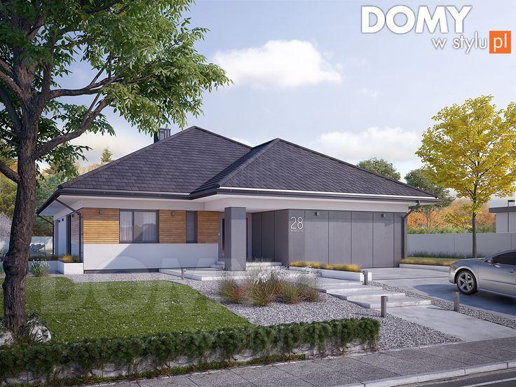 Projekt domu Decyma 9 - wizualizacja frontowa