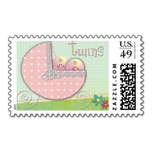 1707 best Twins Baby Shower Postage Stamps images on ...