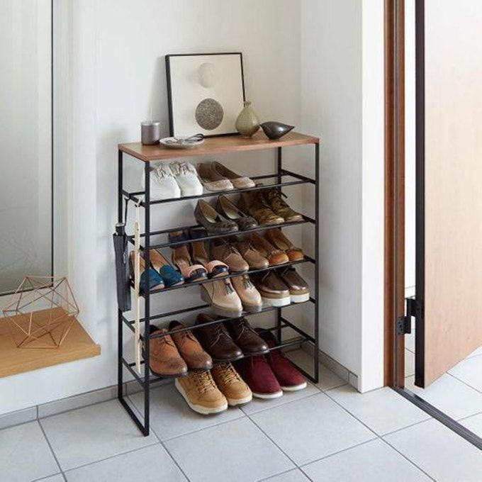 Meuble A Chaussures 6 Etages Noir Yamazaki La Redoute En 2020 Meuble Chaussure Etagere A Chaussures Diy Rangement Chaussures