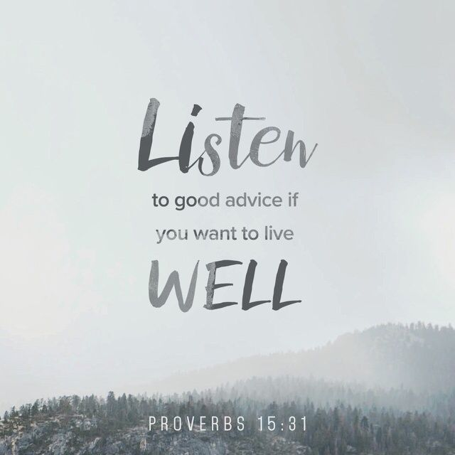 """""""The ear that listens to life-giving correction dwells among the wise. Those who refuse discipline despise themselves, but those who listen to correction gain understanding."""" Proverbs 15:31-32 CEB http://bible.com/37/pro.15.31-32.ceb"""