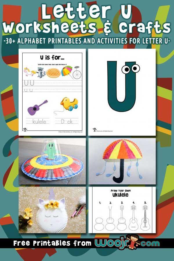Letter U Worksheets Crafts Woo Jr Kids Activities Free Lettering Letter U Kindergarten Worksheets Printable Free printable letter u worksheets