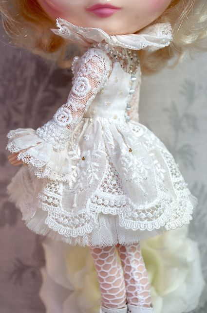 For Marietta ≈ White Symphony ≈ | Blythe clothes for dolls : tutorial : Kikihalb ♧ Forest~Tales ♧