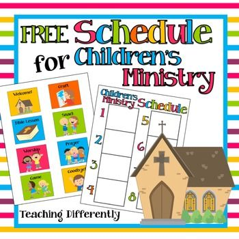 Children's Ministry / Sunday School Schedule: Visual schedules are great supports for young children, children with autism and other…