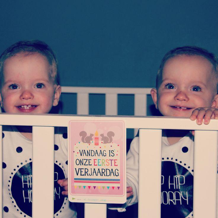 1 jaar: een grote mijlpaal. Leg het vast met de Milestone Baby Cards. Een bijzondere dag voor onze tweeling