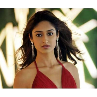 Ileana D'cruz Hot in Red Bikini Dress
