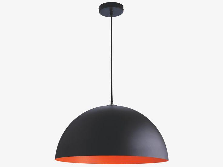 SAMUEL ORANGES Metal Black and fluorescent orange metal ceiling light - HabitatUK
