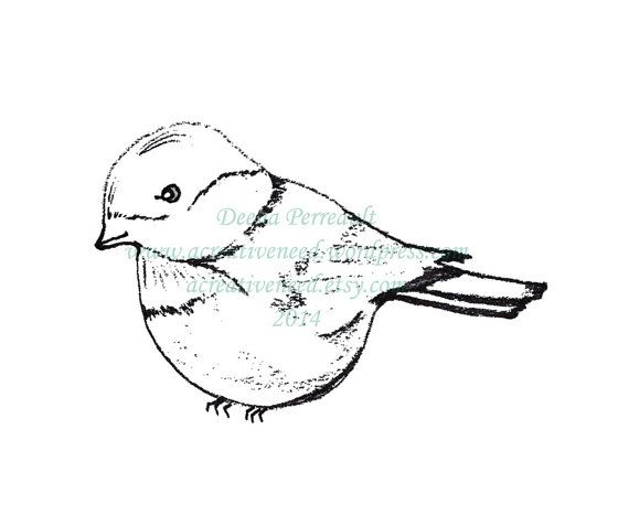 INSTANT Download Digital Stamp Image CHICKADEE by ACreativeNeed