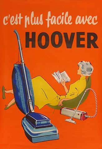 http://www.kitchendecorationidea.com/category/Vacuum-Cleaner/ Vintage Poster - Hoover - 50's - 1950's - Domestic Goddess - Cleaning