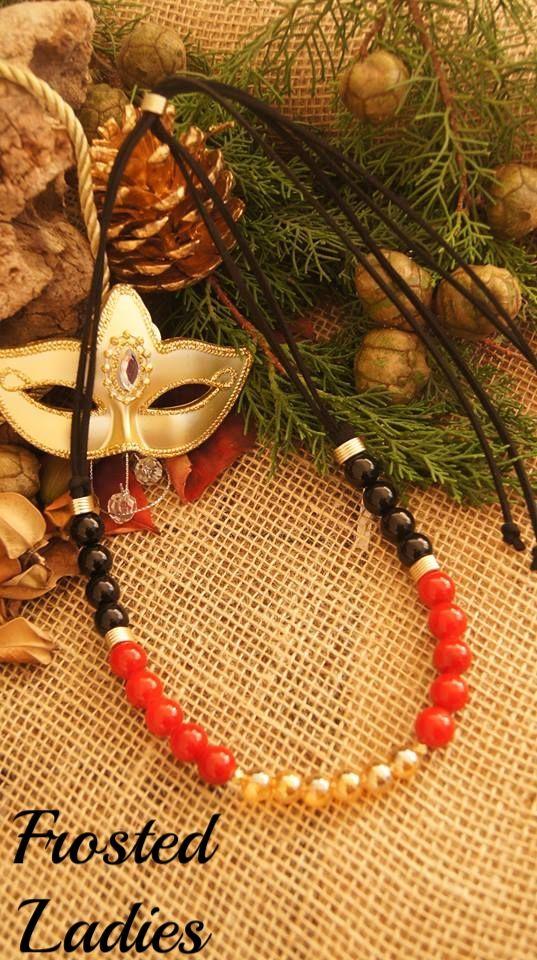 ❤Life Χειροποίητο κολιέ φτιαγμένο από μαύρο σουεντ, AB Gold and black beads, κόκκινος νεφριτης, mat χρυσές λεπτομέρειες . Μοντέρνα χειροποίητα κοσμήματα που θέλεις και μπορείς να αποκτήσεις!