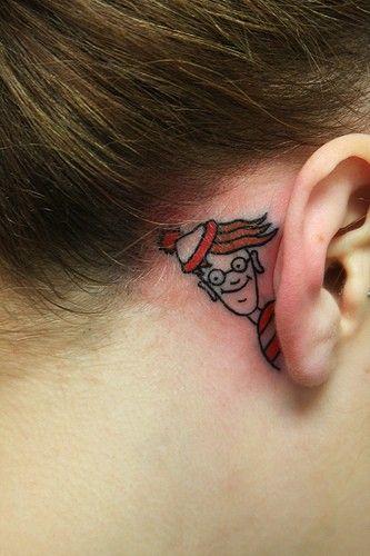 Hidden tattoo.: Tattoo Ideas, Tattoos, Body Art, Tattoo'S, Whereswaldo, Ink