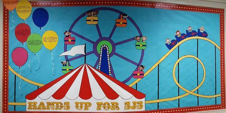 Carnival Bulletin Board- Roller Coasters!