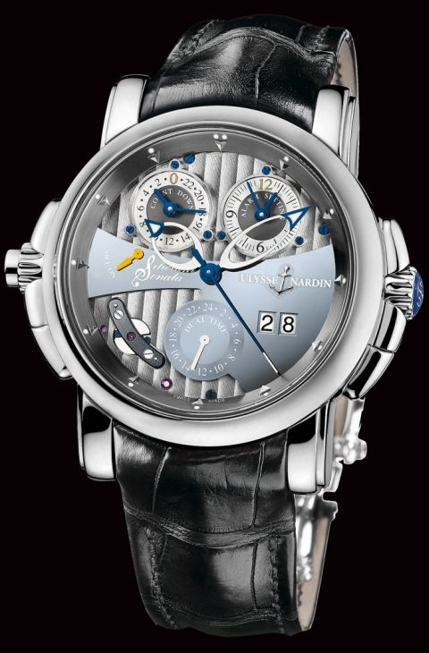 Ulysse Nardin Sonata Silicium Limited Edition alarm watch replaces Au with Si