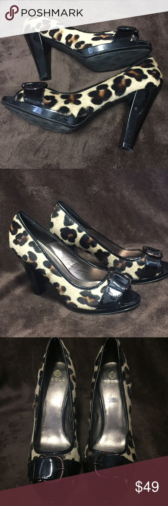 "ISOLA animal print horse hair heels sz 11 Beautiful ISOLA animal print high heel shoes. 1/2"" platform with Sturdy 4"" heel. Made from horse hair. Excellent condition. No major flaws. Size is 11. 🦄Suggested User🦄 ISOLA  Shoes Heels"