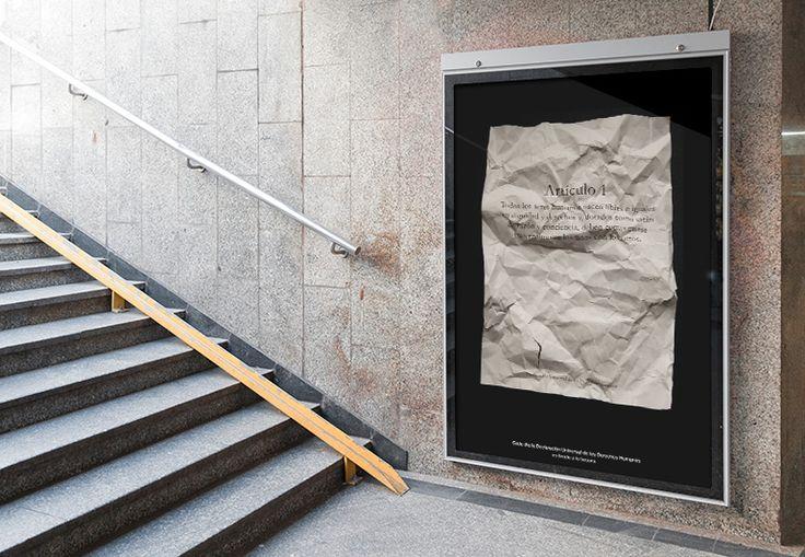 Diseño de gráfica publicitaria en defensa de la libertad de expresión y los derechos humanos