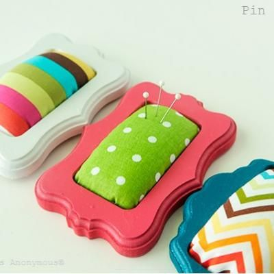 Mini Frame Pin Cushions {Tutorial}