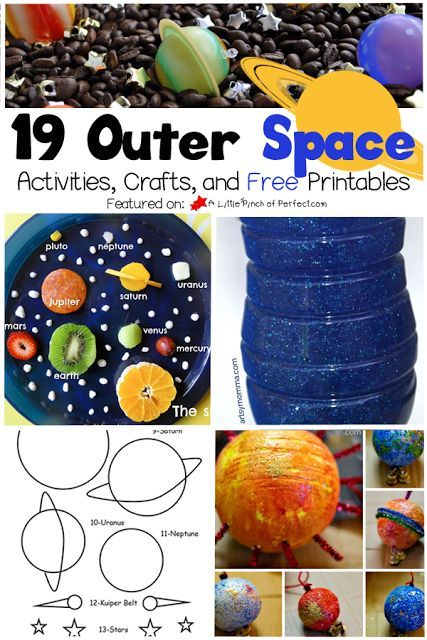 19 outer space activities, crafts, and printables to help your kids to explore the universe!