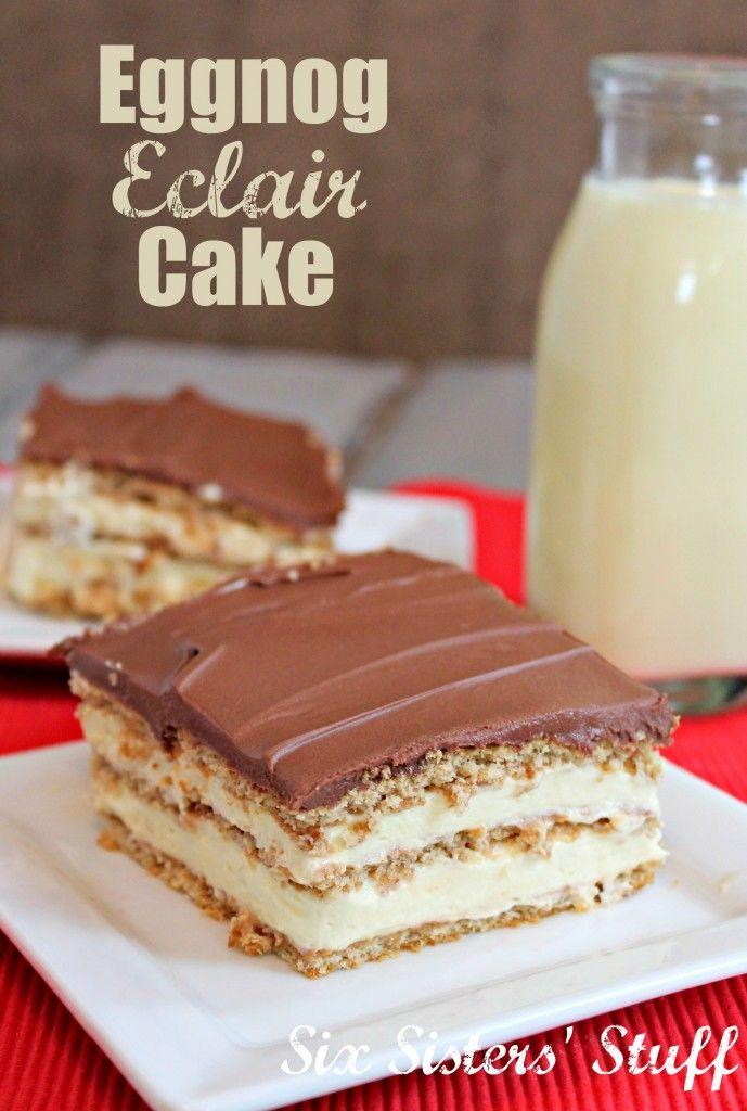 Eggnog Elcair Cake on MyRecipeMagic.com