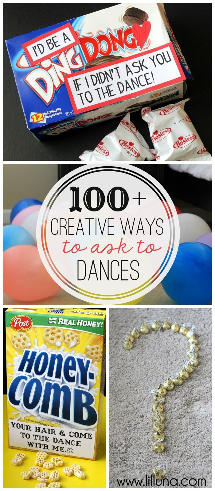 100+ Creative Ways to ask to Dances - a MUST-SEE list on { lilluna.com }