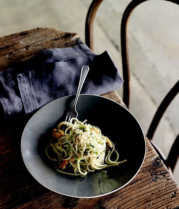 Spaghetti with mussels and chilli recipe | Pasta recipe - Gourmet Traveller