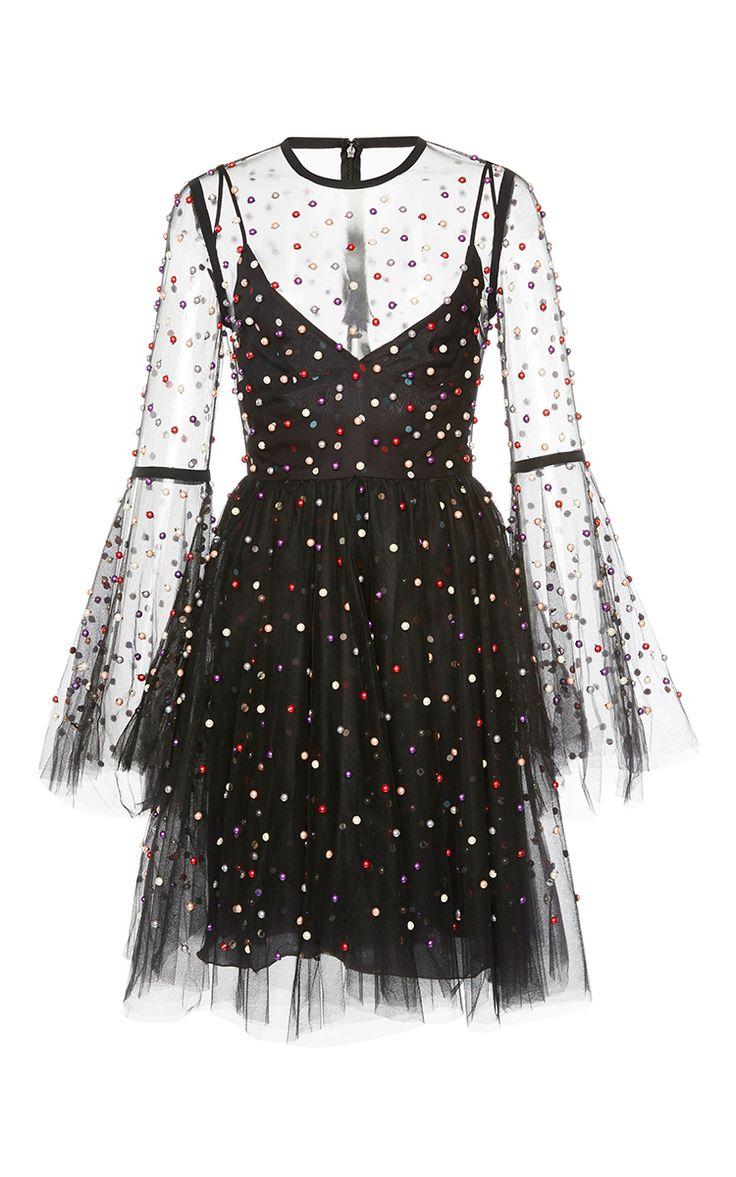 Tulle Mini Dress by ELIE SAAB for Preorder on Moda Operandi