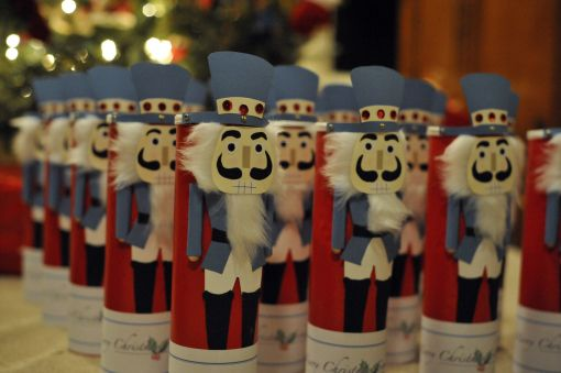 Nutcracker canisters from Pringles cans