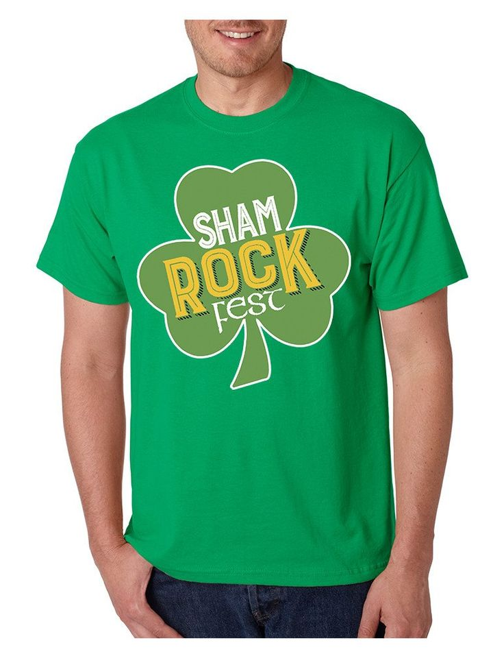 Men's T Shirt Shamrock Fest St Patrick's Day Party Tee Shirt  #stpatricksday #tshirt #festival #shamrock #party
