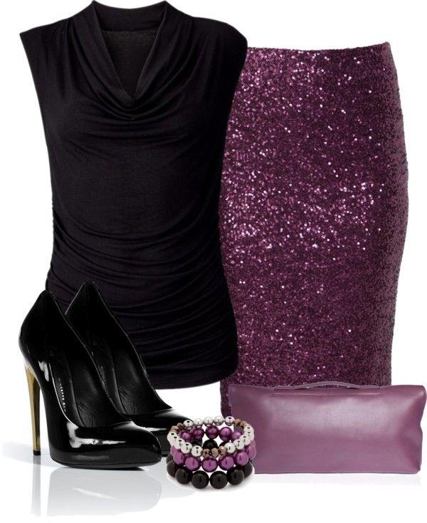 """Purple Sequin Skirt"""