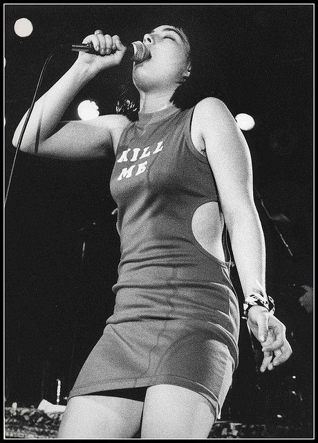 Kathleen Hanna. http://www.dazeddigital.com/music/article/16724/1/dazed93-bikini-kill