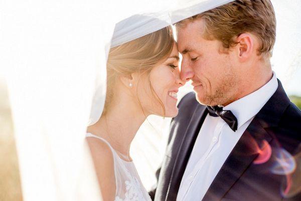 Bride and Groom under the Veil    #veil #married #weddingday #wedding
