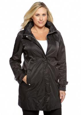 Calvin Klein Black Plus Size Packable Jacket