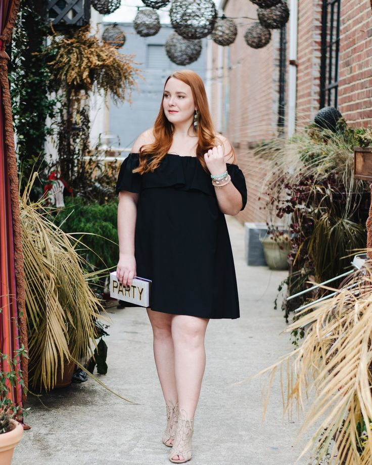 what to wear to weddings this spring - thestylelodown.com | wedding guest | lbd | off the shoulder | flounce | cocktail dress | day dress | outfit | red hair | turquoise | abalone shell | arm party | acrylic clutch | personalized | party look | kendra scott | chandelier earring | earrings | jewelry | statement |