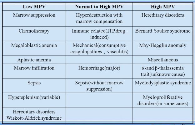 MPV Blood Test - What is?, High, Low, Normal, What does it Mean?. Mean Platelet Volume refers platelet size, which is as a marker of platelet functionality.
