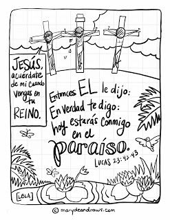 18 best Spanish Bible Coloring